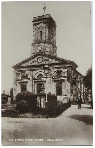 wellington all saints postcard