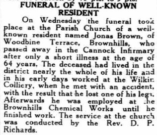 brown jonas funeral news 1938