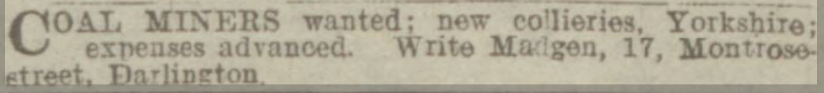 miners wanted leeds mercury 21 Feb 1916