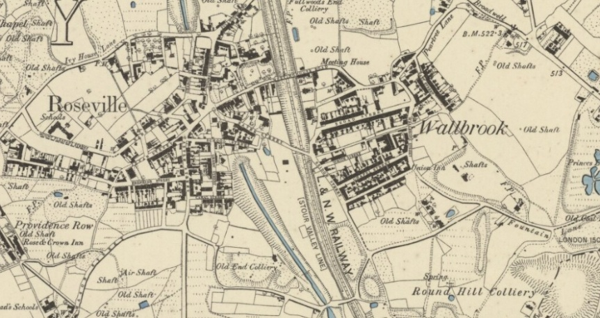 roseville wallbrook map 1885 os