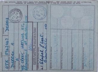 UK ID card 1948 - 1950