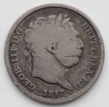 One shilling. George III, 1817.