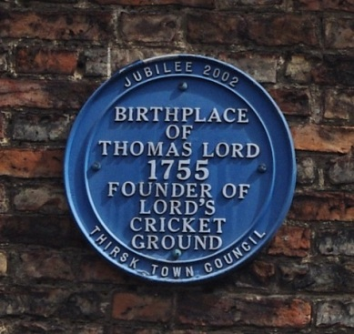 thoms lord blue plaque