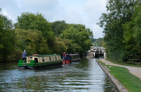 Approaching Hatton locks