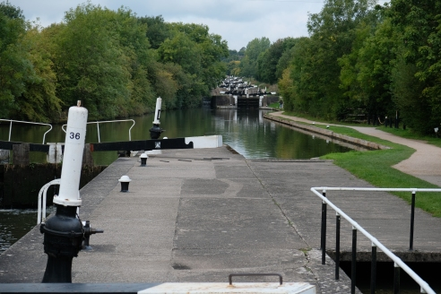 Hatton Locks from lock 36.