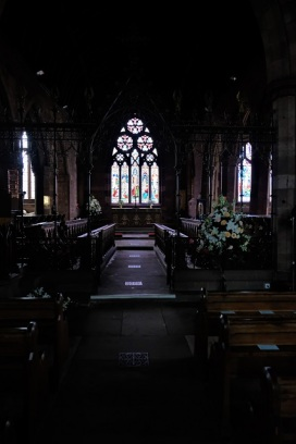 From the nave, through the choir, to the sanctuary.