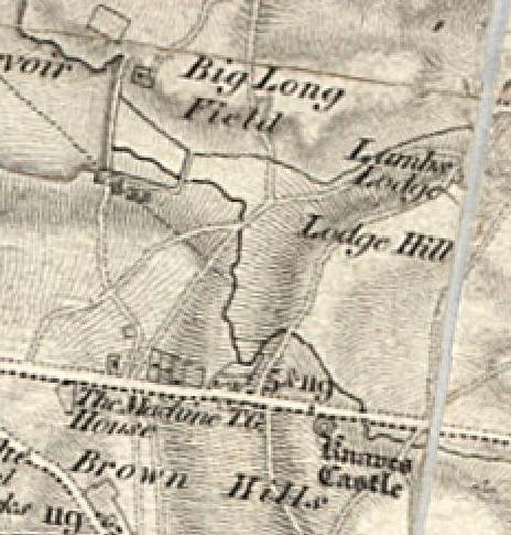 howdles lane area 1834 os 1st ed