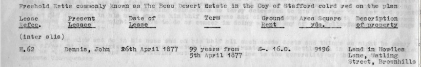 lease john dennis 1877