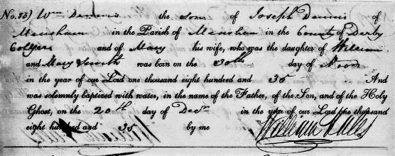 william dennis bp 1835 measham