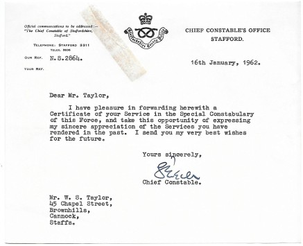 Letter from Chief Constable
