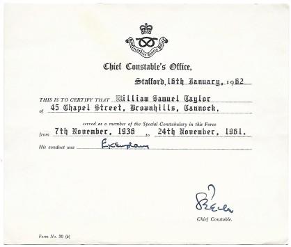 Enclosed certificate.