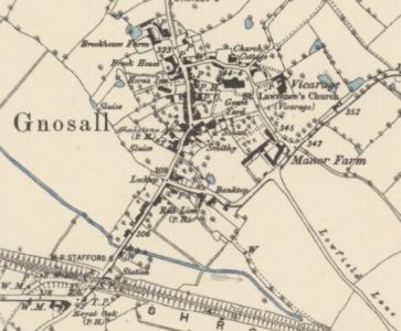Gnosall OS 1880 1884