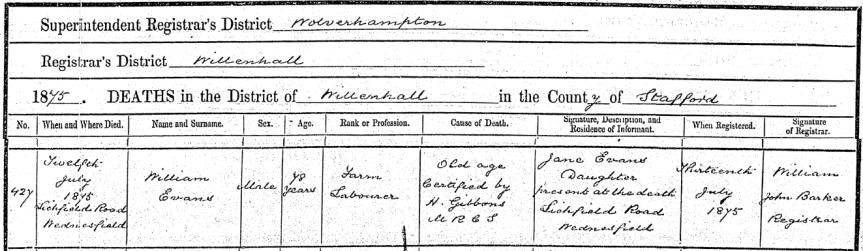 evans william eod 1875