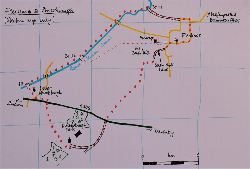 map flecknoe shuckburgh