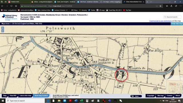 Polesworth south OS 1884 1885 1885