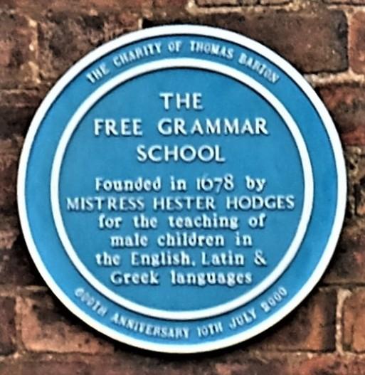 The Free Grammar School (transcription below).