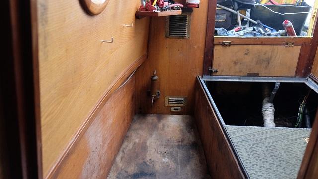 No radiator in engine room