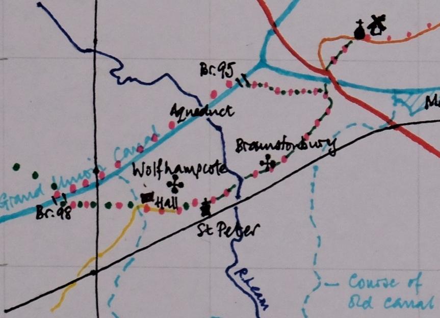 wolfhampcote walk map c