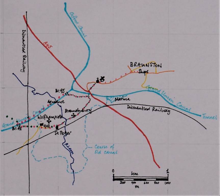wolfhampcote walk map