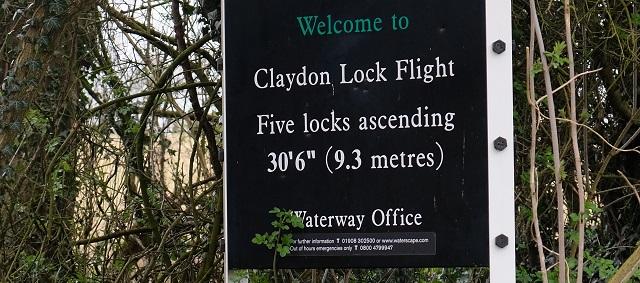 Claydon Locks sign